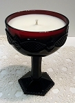 Purely Pine Candle in Vintage Avon Ruby Champagne Goblet - ONE LEFT