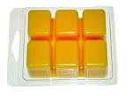 Pack of 12 6-Cavity PVC Wax Melt - Wax Tart Clamshell Containers