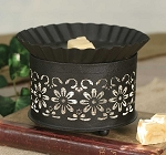 Daisy Punched Metal Wax Warmer - Rustic Wax Melter