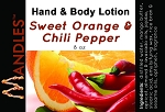 Sweet Orange Chili Pepper Lotion for Men by Mandles