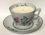 Spode Summer Palace Teacup Candle -  Lavender, Apples & Oak Teacup Candle