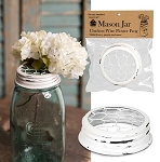 NEW - White Metal Flower Frog - Fits Standard Size Mason Jar