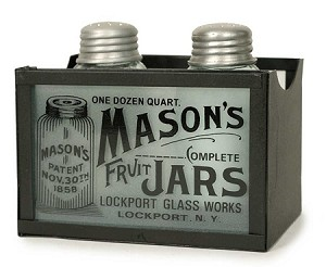 CLEARANCE - Mason Jar Salt and Pepper Shakers