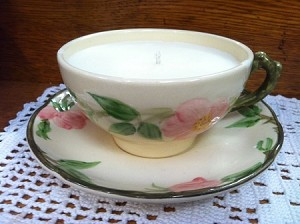 Francisan Desert Rose Teacup Candle