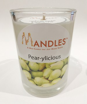 Pear-yLicious Pear Mandle Candle for Men