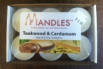 Teakwood & Carcamom Tea Lights - Mandles - Candles for Men