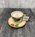 Lavender, Apples and Oak 100% Soy Candle - Franciscan Apple Tea Cup Candle