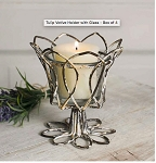 Rustic Wire Tulip Votive Holder