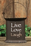 Live, Laugh, Love Wax Warmer - Metal, Rustic Candle Wax Melter - ONE LEFT