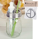 Mason Jar Toothbrush Holder Lid - BACK IN STOCK