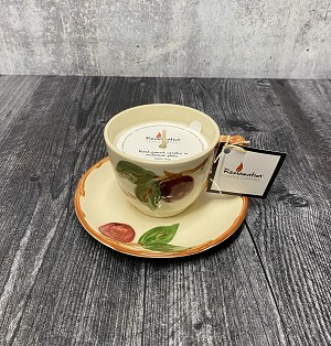 Franciscan Apple Tea Cup Candle