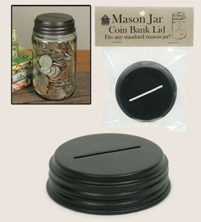 Mason Jar Coin Bank Lid